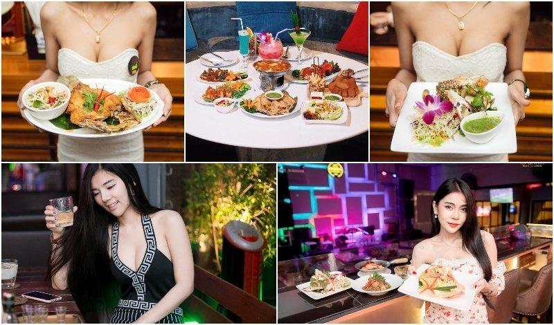 Thai girls love food