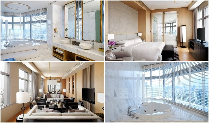 Interior and Jacuzzi of the Presidential Suite at Bangkok Marriott Hotel Sukhumvit