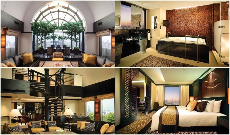 Interior and Jacuzzi of the Presidential Suite at Banyan Tree Bangkok