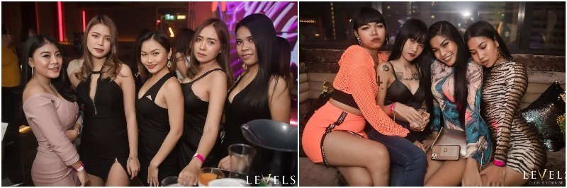 Sexy Thai girls at Levels Club in Bangkok