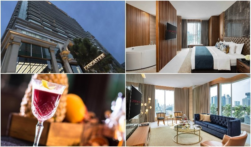 images of the Sky Garden Suite at Lancaster Hotel in Bangkok
