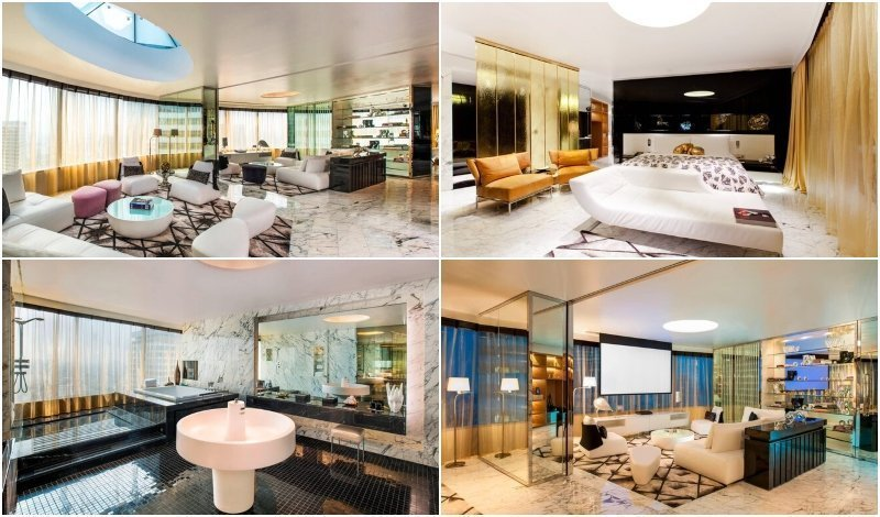 Interior of the Extreme WOWSuite at W Hotel Bangkok