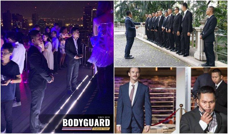 Bodyguards from Bodyguard Team company in Bangkok