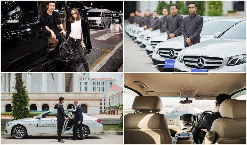Minivan and limousine fleet from Limousine Express service in Bangkok