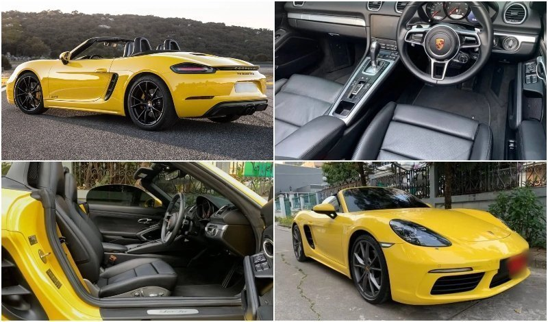 Yellow porsche available for rent from Prestige Car Rental Bangkok