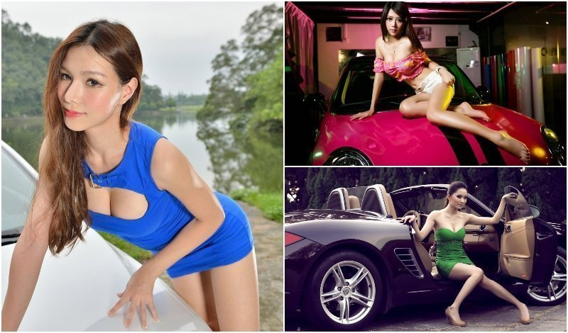 Sexy Thai girls with sports cars