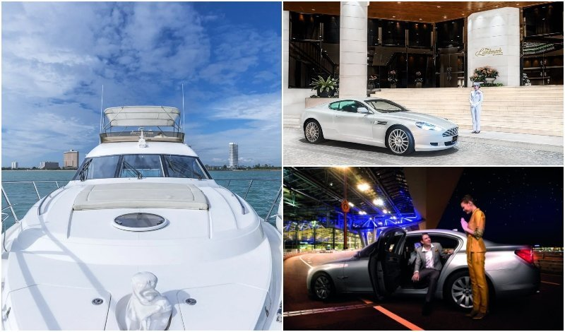 yacht and luxury cars for rent in Thailand