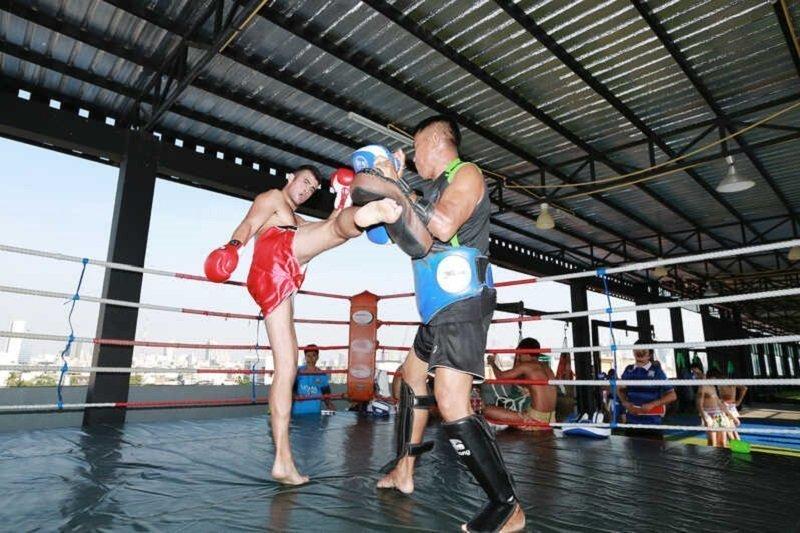 Muay Thai lesson in Bangkok