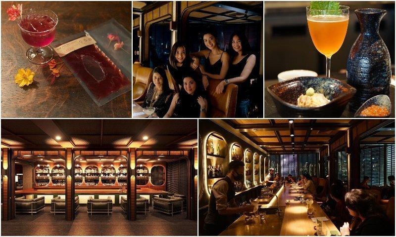Interior and cocktails of 008 Bar at Akyra in Thonglor Bangkok