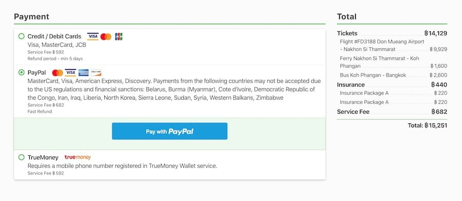 12go asia payment methods