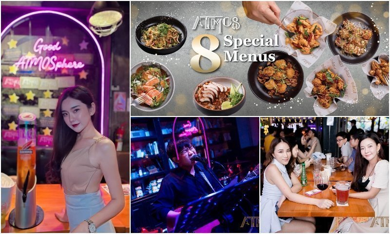 Girls menu and singer of ATMOS Thonglor 10 in Bangkok