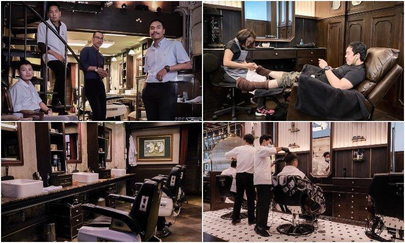 Haircut and pampering at Black Amber barber shop in Thonglor Bangkok