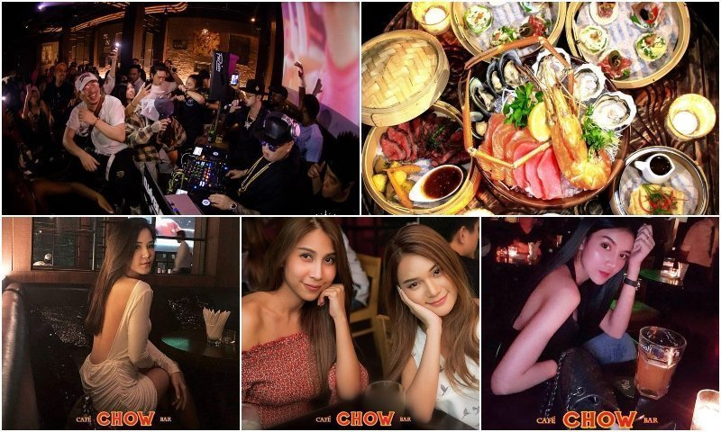 live band Thai food and Thai girls at CHOW Cafe and Bar in Thonglor Bangkok