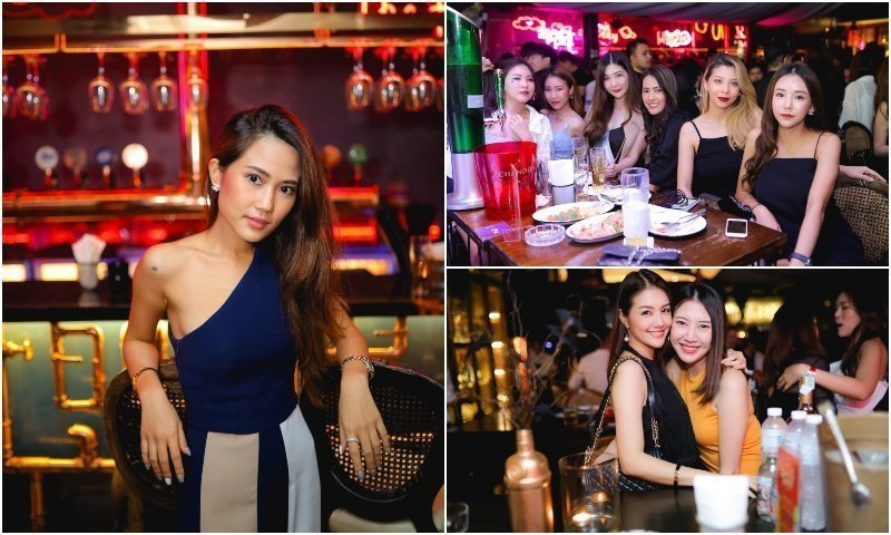 Gorgeous Thai girls at Fallabella Thonglor bar in Bangkok
