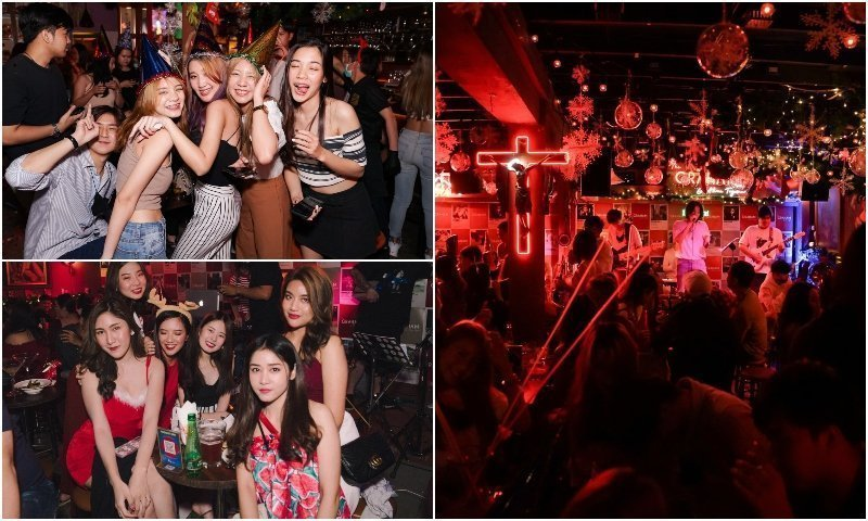 Beautiful Thai girls and live band at Graham Studio bar in Ekamai Bangkok