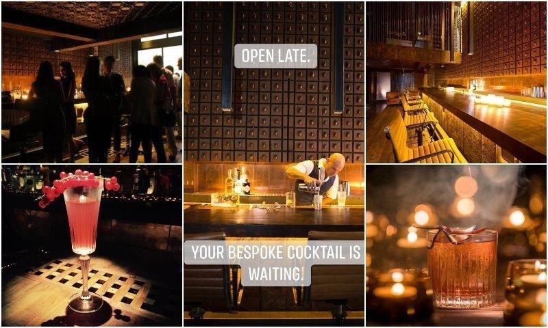 Interior and cocktails of J.Boroski secret cocktail bar in Thonglor Bangkok