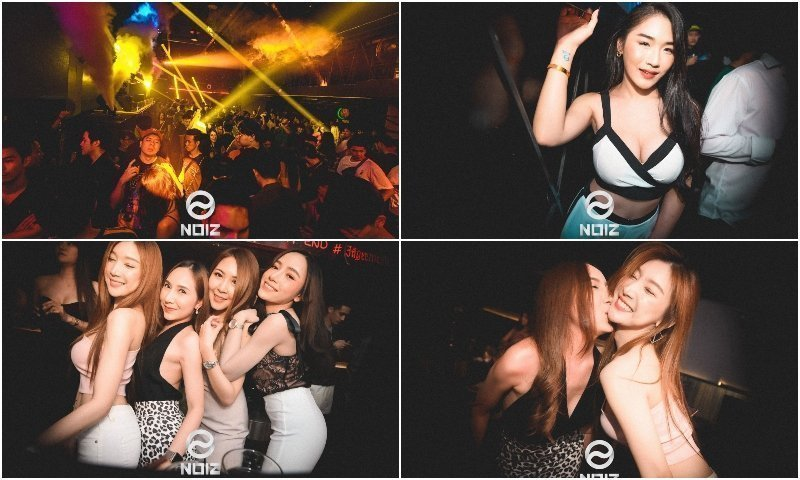 Party and hot Thai girls at NOIZ club in Thonglor Bangkok