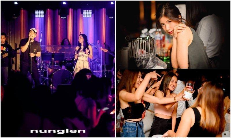 Live singers and beautiful Thai girls at Nunglen LAB in Bangkok