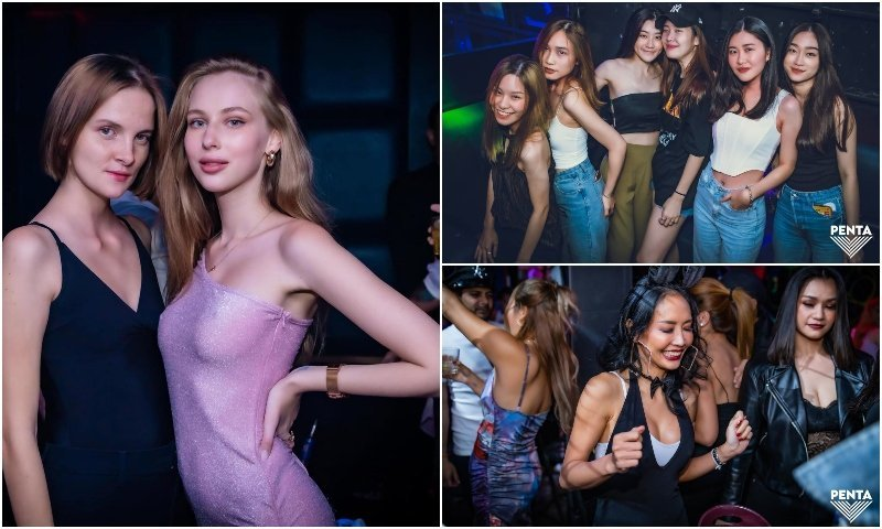 Sexy girls from Penta club in Bangkok