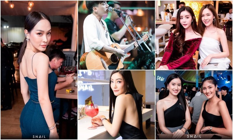 Beautiful Thai girls and live singer at SNAIL Thonglor bar in Arena 10 Thonglor Bangkok