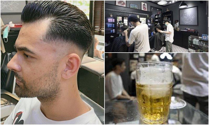 Men haircut at Tew's Barber Shop in Bangkok