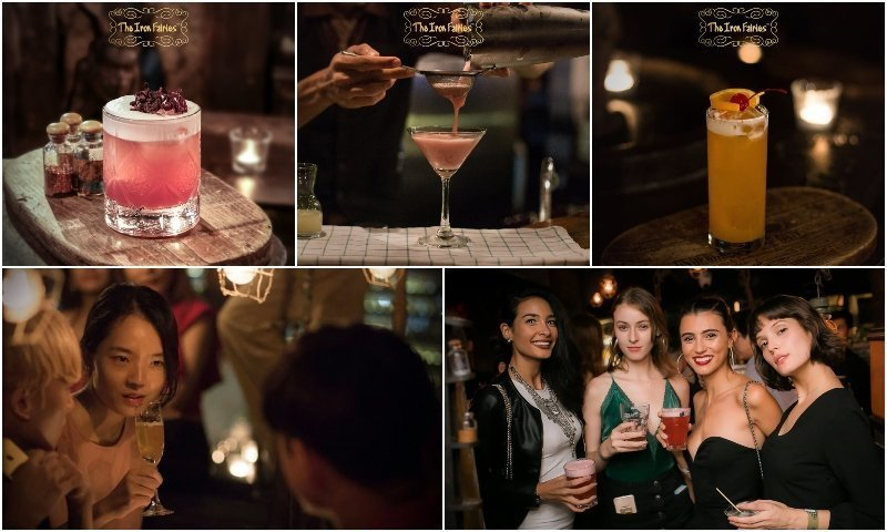Cocktails and girls drinking at The Iron Fairies Bangkok in Thonglor