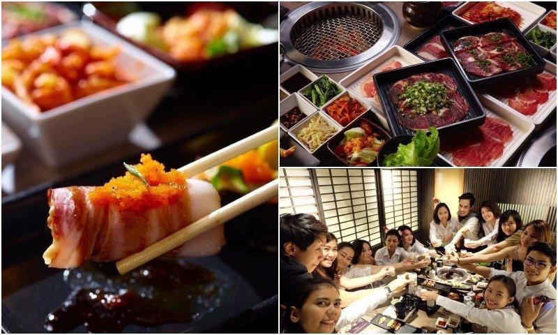 Japanese food and people drinking at Japanese restaurants in Thonglor Bangkok