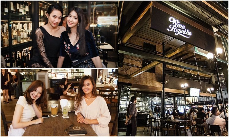 Smily Thai girls at Wine Bars in Thonglor Bangkok