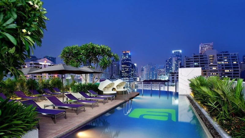 Aloft hotel pool in Bangkok