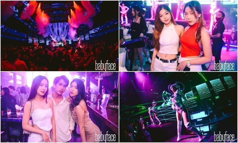 Party with girls and dancers at Babyface Superclub in Bangkok