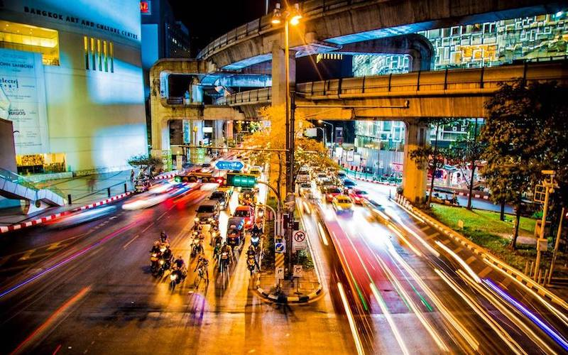 photo of blured lights in Bangkok by worldpitou