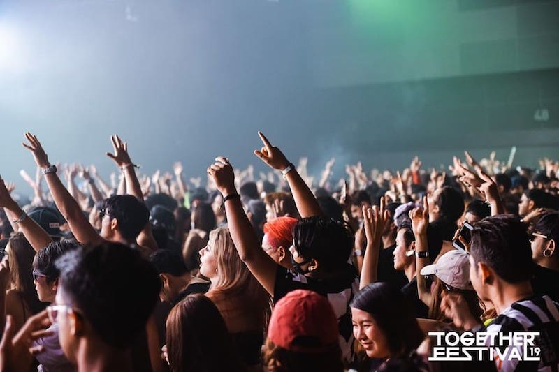 crowd at Together music festival 2019 in Bangkok