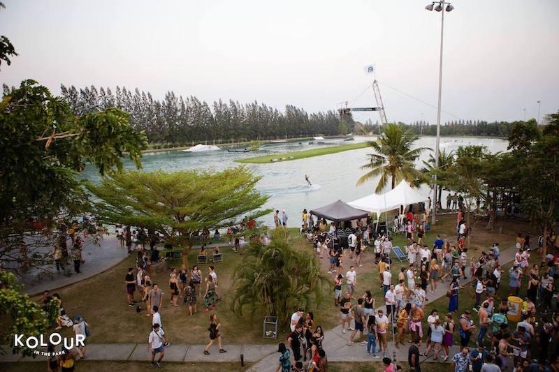 Kolour music festival at Thai wake park in Lumlukka