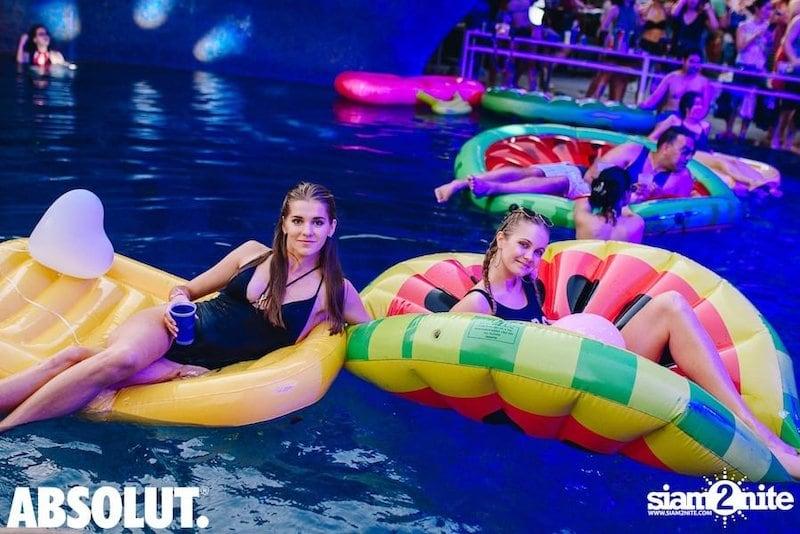 girls at W pool party in Bangkok