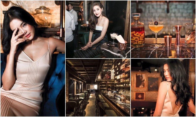 Hot Thai girls and cocktails at Rabbit Hole cocktail bar in Thonglor