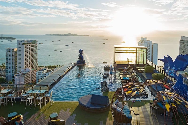 Rooftop bar of Siam@Siam hotel in Pattaya
