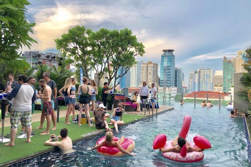 Splash pool party at Aloft in Sukhumvit 11 in Bangkok