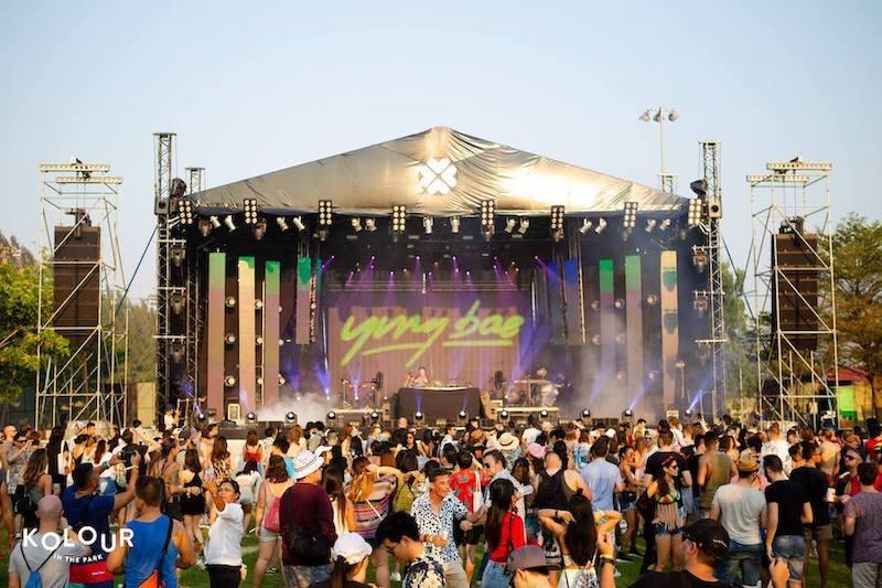 stage of Kolour music festival