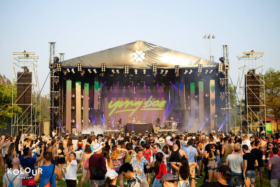 stage at Kolour in the Park music festival