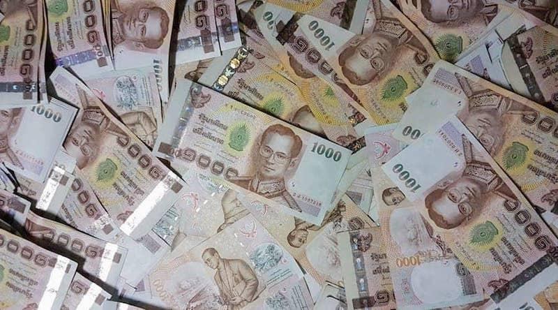 Thai baht thousand notes