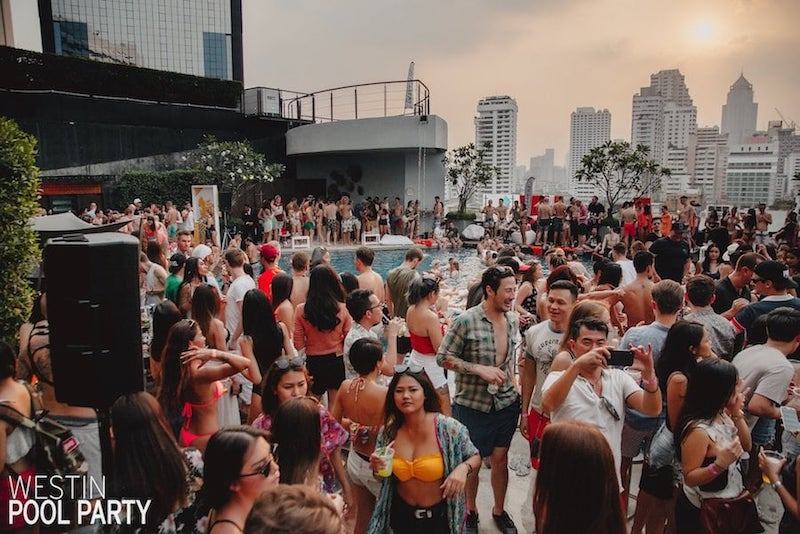 Westin pool party in Bangkok