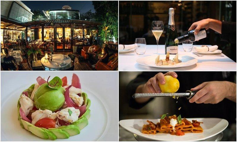 Food and terrace of La Bottega di Luca in Thonglor Bangkok