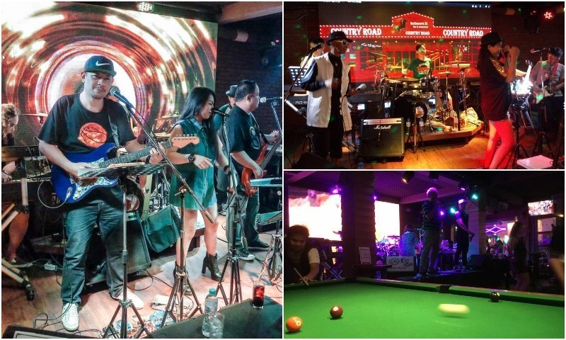 live music bar and pool table in soi Cowboy in Bangkok