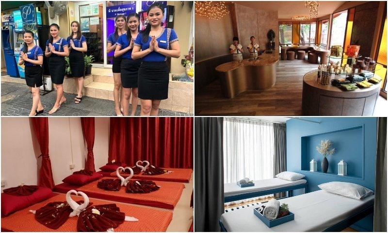 Massage parlors around Nana Plaza in Bangkok Sukhumvit soi 4