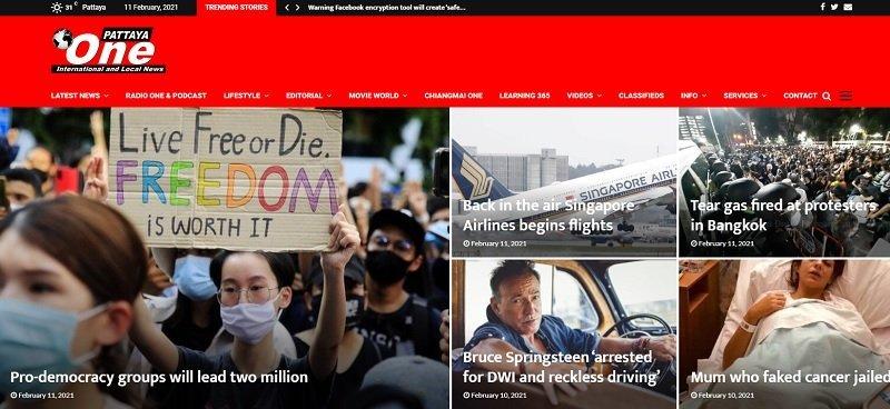 Pattaya one online newspaper in Thailand