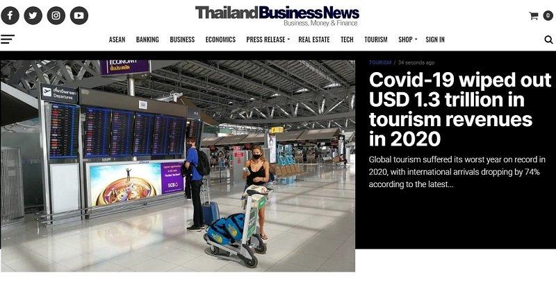 homepage of Thailand Business News online Thai magazine in English