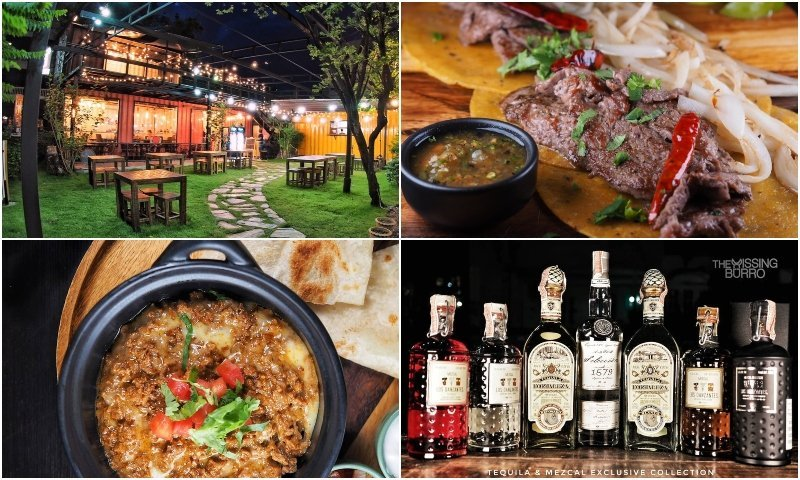Restaurant and food at the Missing Burro in Thonglor