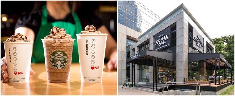starbucks and the coffee club sukhumvit soi 11 Bangkok