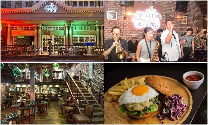 interior live bands and food at live music bars in Sukhumvit soi 11 Bangkok