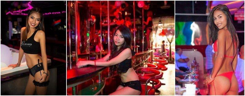 beautiful Thai girls working at Gogo bars in Thailand